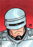 Robocop Sketch Card by TheRigger