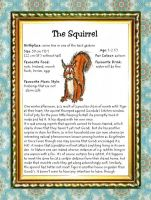 Character Sheet 5/9: Squirrel by PaulEberhardt