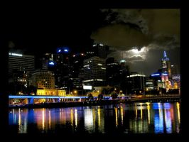 Melbourne Nightlights by coathanger007
