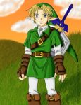 Link - Ocarina of Time by Helonzyz