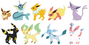 Eeveelutions Base by SelenaEde