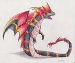Coral Wyrm by EmeraldRainDragon