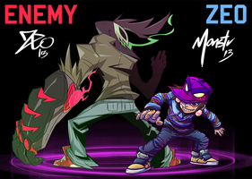 ENEMY vs ZEO by zeoarts