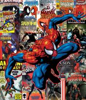 Spider-Man Comicbook Cover Collection Wallpaper by UndeadPixelArmy