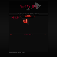 Clan Gaming Web Design - Wolf by RoboAngel