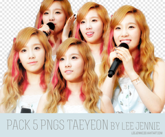 Pack 5PNGS Taeyeon by LeeJennie~ by LeeJennie