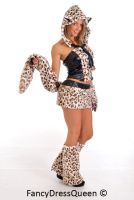 Faux Fur Leopard Print Animal Costume by fancydressqueen
