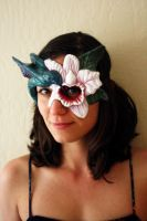Hummingbird/Orchid Mask by Faust-and-Company