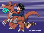 Hiro Hamada and Guilmon by charizardproduccion7