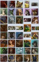 April Icon Commissions Batch #1 by CharReed