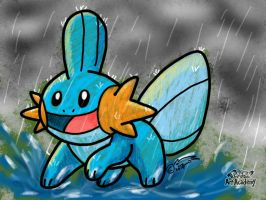 Playing in the Rain (Pokemon Art Academy) by IslWeasl
