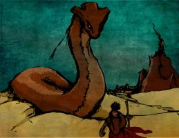 Great Serpent of the sands by LeftyLike