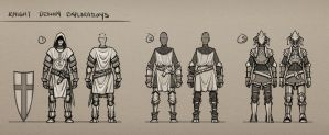 Knight Design Explorations by SourShade