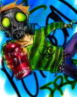 Gas Mask Graffiti Punk by KreyyZKitty