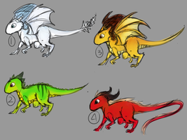 Dragon Adoptables [unsold] by shesta713