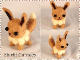 Needle Felted Chibi Eevee! by StarlitCutesies