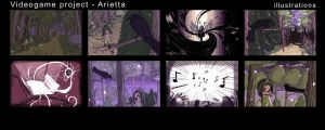 Arietta - intro illustrations by Monkanponk