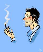 He likes to Smoke by chainedsinner