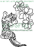 Tiger And Flowers Tattoo by WildSpiritWolf