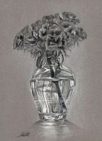 Flowers in a Vase by Char10tte