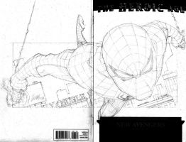 New Avengers Spider-Man sketch by wrathofkhan