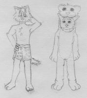 My puppies - anthro style X3 by Jakerei