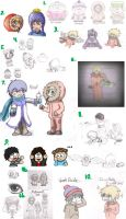 South Park Sketch Dump 1 by Dragongirl9888
