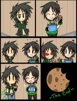 Brute and Raze cookie comic by Enthriex