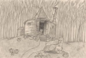 Hagrids hut by GoldenPhoenix75