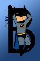B is for Batman in color by imJEANNEus