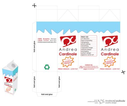 milk carton business card by andreacardi