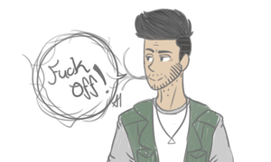 he hasnt shaved and has coffee breath by Driifting-Dream