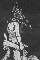 Silver Pyramid Head by Spiraled-Jester