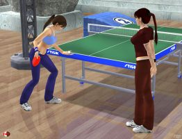 140607_Lara_shows_Doppie_the_table_tennis_serve by McGaston