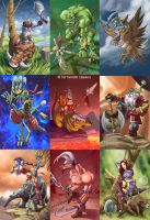 Fantasy_stickers by fercasaus
