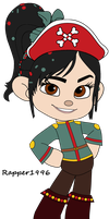 Vanellope as a Pirate Princess by Rapper1996