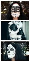 Day of the Dead photo shoot by maskedzone