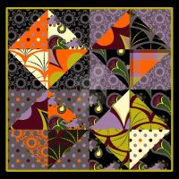 Octobria mock quilt by PeriwinklePaisley
