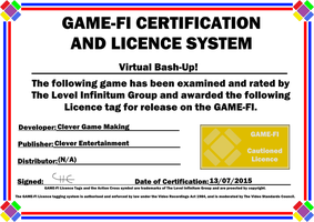 Virtual Bash-Up! Game-Fi Certificate by LevelInfinitum