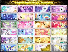 Friendship is Magic Tag Wall 4 by Paradigm-Zero