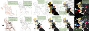 How I Draw using Sai. by Lazy-the-King