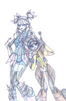 TFP: Raf and Miko. (Scan version) by KasugaBee