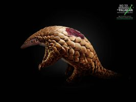 No2MiningInPalawan: Wounds Campaign: Pangolin by akocpinoy
