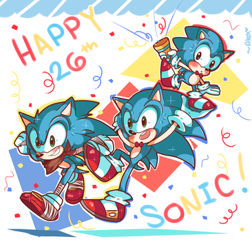 ~26 YEARS OF SONIC~! by chibiirose