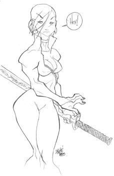 girl with sword. by fco
