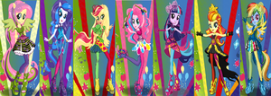Equestria girls the rainbooms by unicornsmile