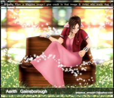 Aerith Sitting in Church by areemus
