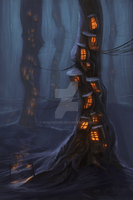 Tree houses by WolfsECHO