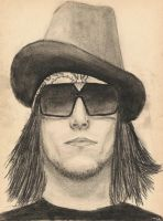 Syn Gates from A7X - drawing by ren-g