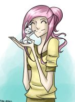 Fluttershy and Angel by Tao-mell